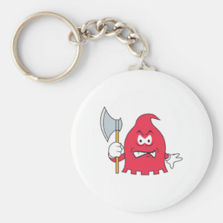 Red Reaper Smiley Face Key Chain