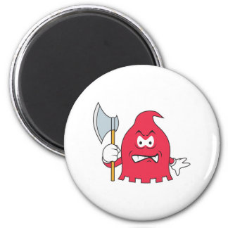 Red Reaper Smiley Face Magnet