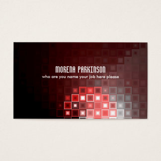 red rectangles business card