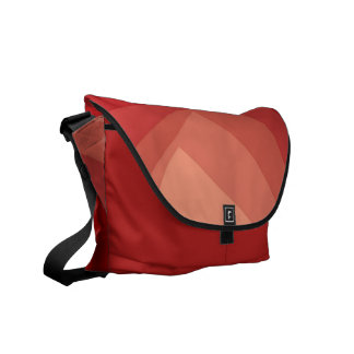 Red Rectangles in Gradient Courier Bag