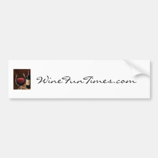 red_red_wine, WineFunTimes.com Bumper Sticker