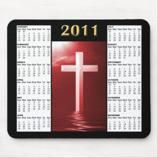 Red Reflecting the Cross 2011 Calendar Mousepad