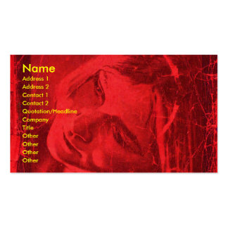 Red Reflections Artist Business Card Business Cards