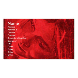 Red Reflections I Business Card Business Card Template