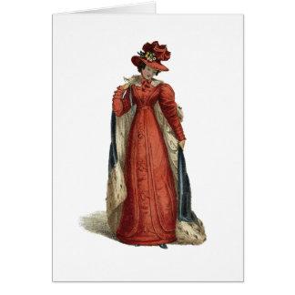 Red Regency Lady Card