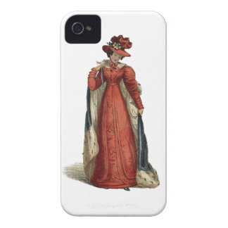 Red Regency Lady Case-Mate iPhone 4 Cases