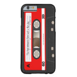 Red Retro Cassette Tape Personalised Case Barely There iPhone 6 Case