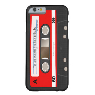 Red Retro Cassette Tape Personalized Case