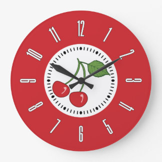 Red Retro Cherry Wallclocks