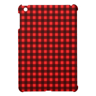 Red Retro Christmas Holiday Tartan Plaid Cover For The iPad Mini