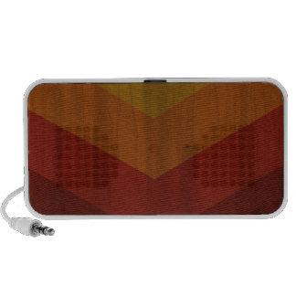 Red retro design travelling speakers