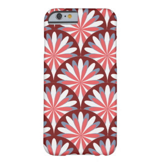 Red Retro Flower Design Barely There iPhone 6 Case