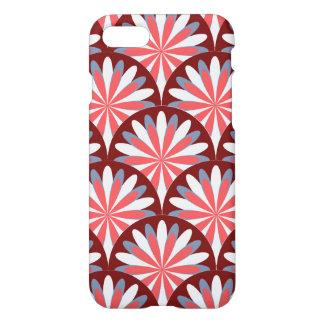 Red Retro Flower Design iPhone 8/7 Case