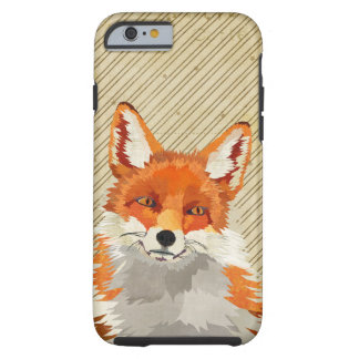 Red Retro Fox iPhone 6 case