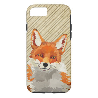 Red Retro Fox iPhone 7 case
