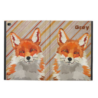 Red Retro Fox Stripes iPad Case