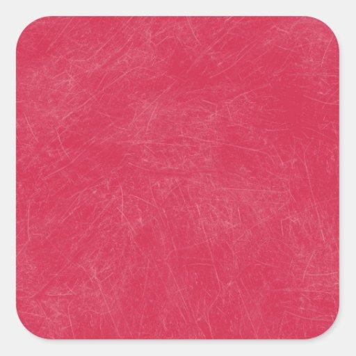 Red Retro Grunge Scratched Texture Sticker