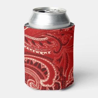 Red Retro Paisley Bandanna/Bandana Can Cooler
