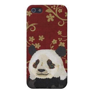 Red Retro Panda iPhone Case Case For iPhone 5