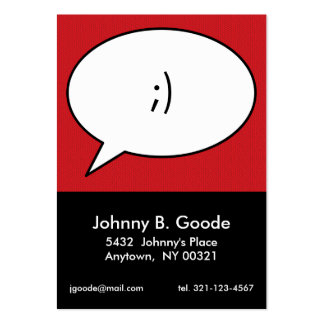 red retro POP ART personal calling card Business Card