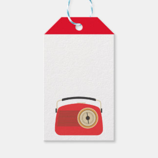Red Retro Radio Gift Tags