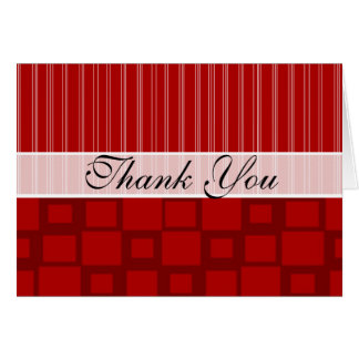 Red Retro Square Stationery Note Card