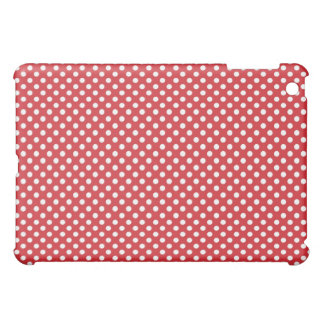 Red Retro Tiny Dot  Cover For The iPad Mini