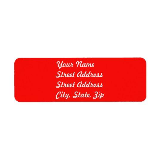 Red Return Address Sticker Return Address Label