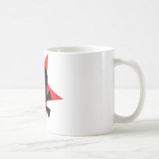 red revolution star skull coffee mug