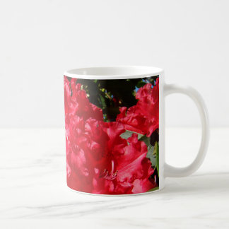 Red Rhododendrons Coffee Cup Mug Rhodies