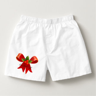Red Ribbon Bow Holly Thunder_Cove Boxers