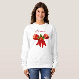 Red Ribbon Bow Holly  Thunder_Cove Sweatshirt
