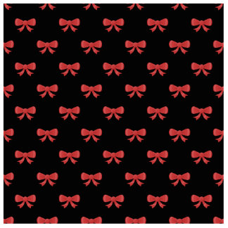 Red Ribbon Bow Pattern on Black. Standing Photo Sculpture