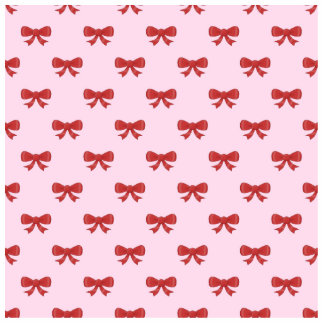 Red Ribbon Bow Pattern on Pink. Photo Cut Out