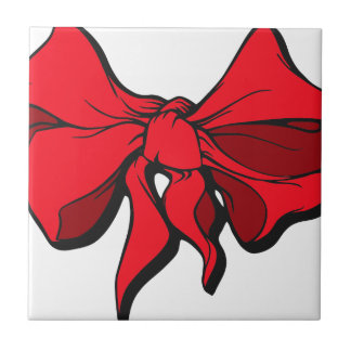 Red Ribbon Ceramic Tile