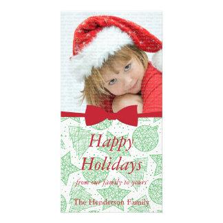Red Ribbon Christmas Holiday Photo Card