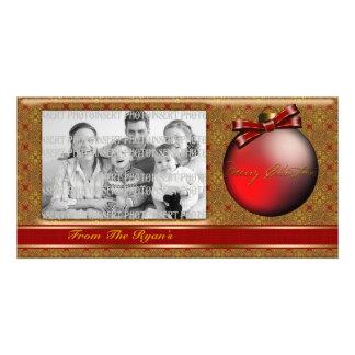Red Ribbon Christmas Photo Card