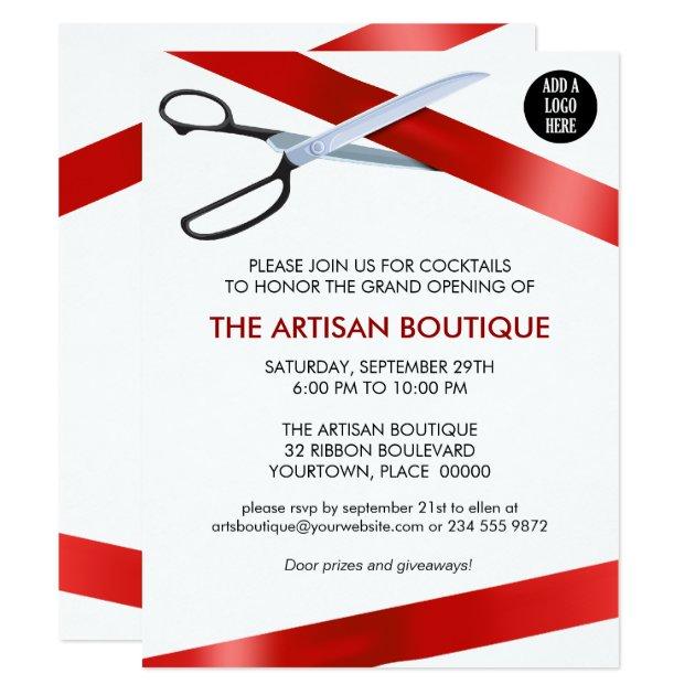 ... Ribbon Cutting Grand Opening 11 Cm X 14 Cm Invitation Card | Zazzle