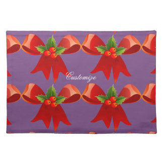 Red Ribbon Holly  Thunder_Cove Placemat