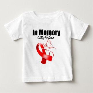 Red Ribbon In Memory of My Hero Tshirts