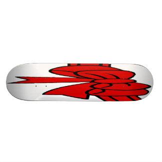 Red Ribbon of Love, Bow,White Back 20 Cm Skateboard Deck
