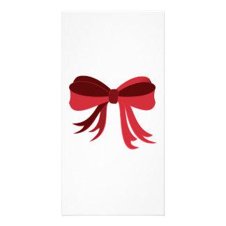 Red Ribbon Photo Card