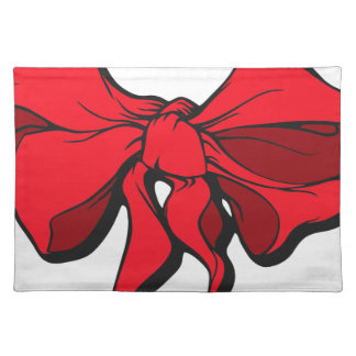 Red Ribbon Placemat