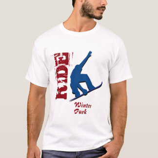 Red Ride Winter Park Snowboard T-Shirt