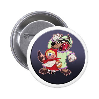 Red Riding Food cartoon button