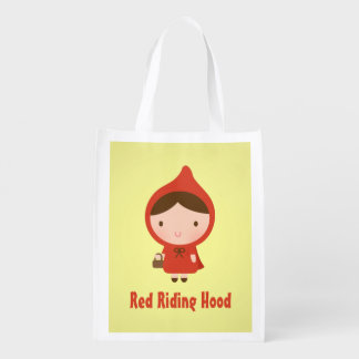 Red Riding Hood and Big Bad Wolf Reusable Grocery Bag