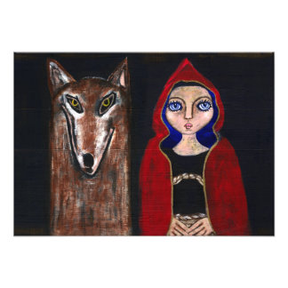 Red Riding Hood and the Wolf Photo Print