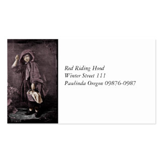 Red Riding Hood at Grandma Door Pack Of Standard Business Cards