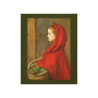 Red Riding Hood by Millais Gallery Wrapped Canvas