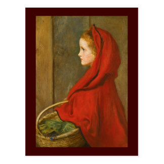Red Riding Hood by Millais Postcard
